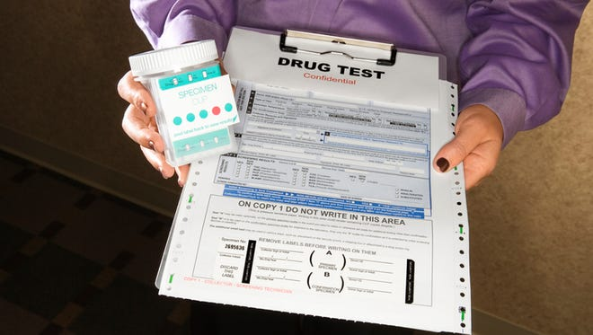 Drug test illustration