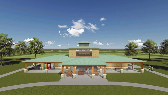 This is an artist's rendering of what the new field house may look like at the Voice of America athletic fields in West Chester Township.