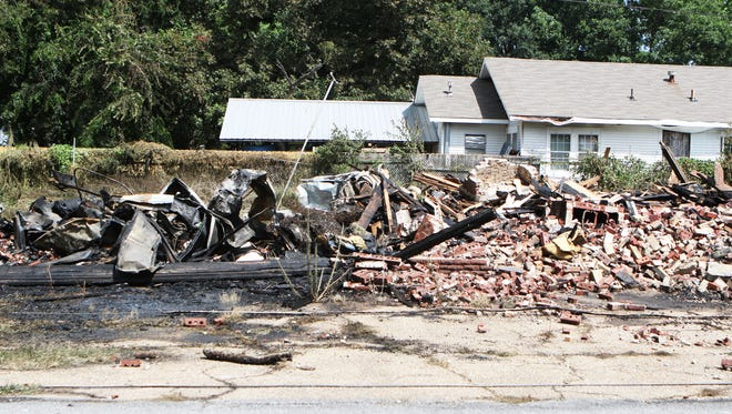 A fire destroyed a house at the corner of Peach Street and South 3rd Street in the early hours of the morning on Tuesday, July 26, 2016. The fire started about 3:50 p.m., according to Monroe Fire Department spokeman Antonio Smith. The house empty. There were no injuries.