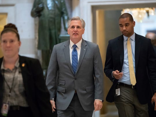 House Majority Leader Kevin McCarthy, R-Calif., walks