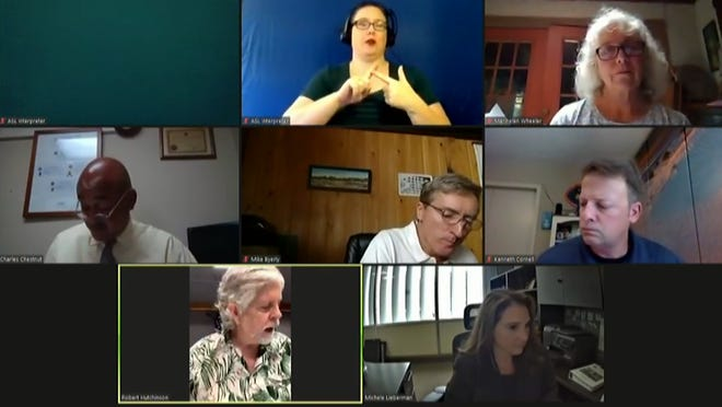 The Alachua County Commission at its virtual meeting Tuesday.