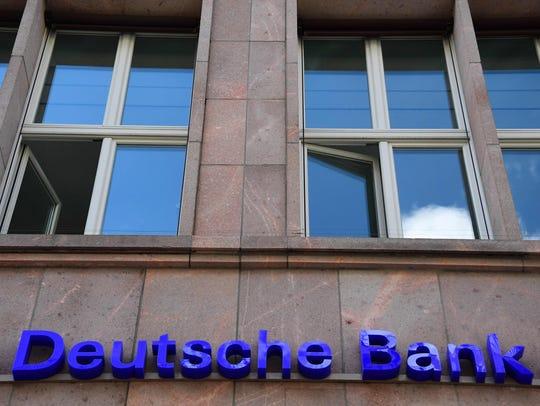 File photo taken in 2016 shows the logo of German banking