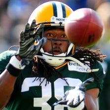 Green Bay Packers cornerback Tramon Williams during training camp practice at Ray Nitschke Field, Wednesday, July 30, 2014.