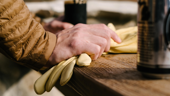 Premium Deerskin Work Glove, available at the Mercantile,