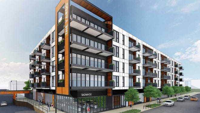 The Yards, a five-story, 87-unit apartment building, is being proposed for Walker's Point.