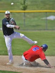 Beaudreau's second baseman Jason Kotschevar (13) throws