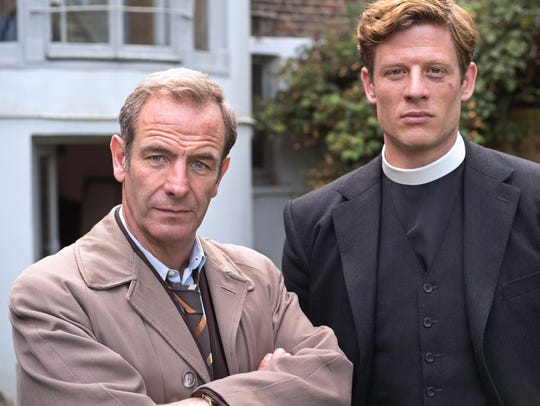 Robson Green (left) and James Norton star in the mystery