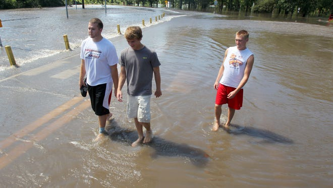 Brookside Park in Ames, where the high school baseball field is located, is prone to flooding from the nearby South Skunk River and Squaw Creek. This flood occurred in 2010.