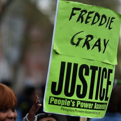 Baltimore protest march for Freddie Gray