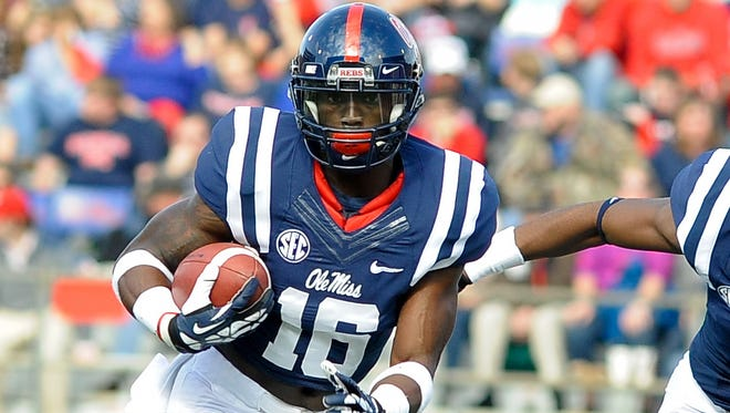 Ole Miss senior Collins Moore has brought stability to the team's punt return game.