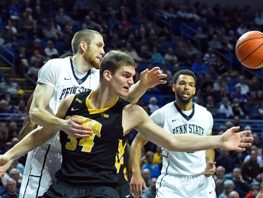 NCAA Basketball: Iowa at Penn State