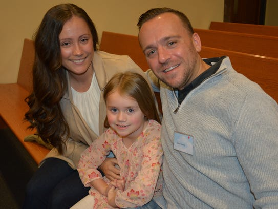 The Guest family (from left: Candace, Norah and David)