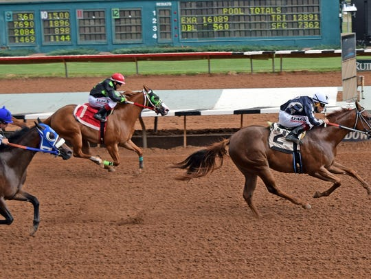 In the $20,000 By By JJ Overnight Stakes for two-year-olds,
