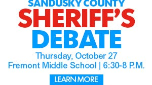The Sheriff's Debate will be held Oct. 27 at Fremont Middle School.