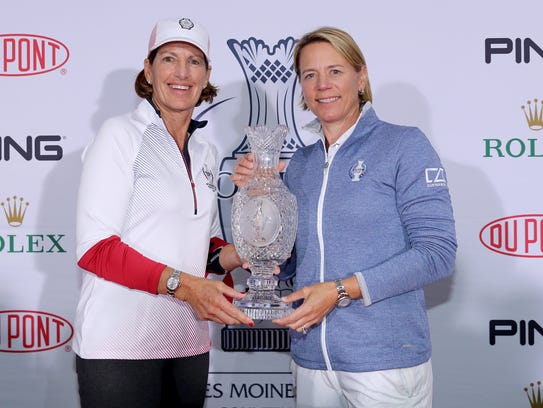 Juli Inkster, the Captain of the United States team