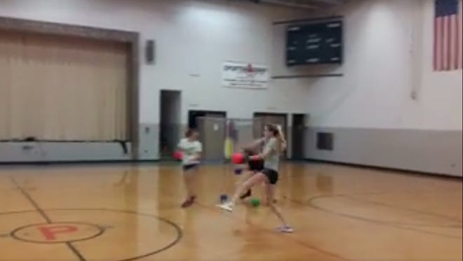 A softball pitcher in Illinois dominated her dodgeball opponents.