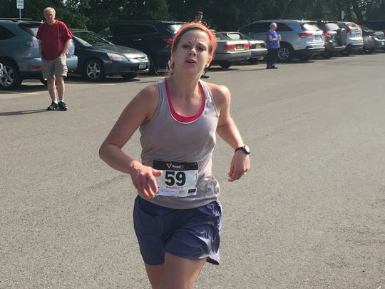 Rebekah Bentle Laudermilch of New Haven, Conn., wins the women's race of the Vestal XX in 1 hours, 31 minutes and 41 seconds.