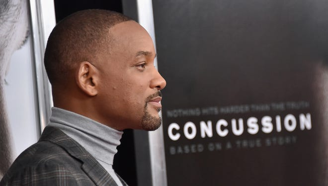 "Actor Will Smith attends the ""Concussion"" New York Premiere at AMC Loews Lincoln Square on Dec. 16, 2015, in New York City."