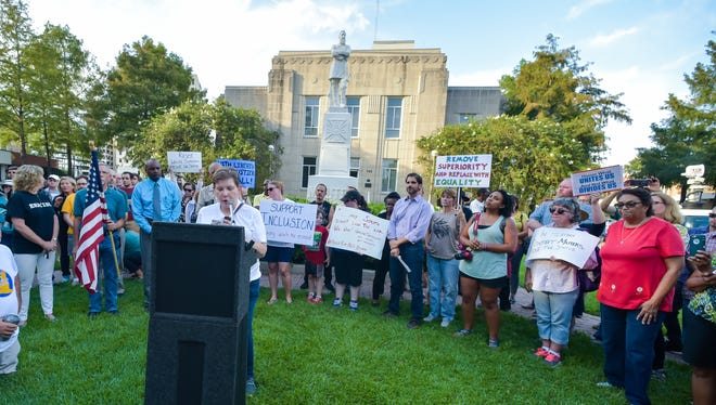Move the Mindset, a group that wants the statue of Confederate Gen. Alfred Mouton removed from downtown Lafayette, hosts a press conference.