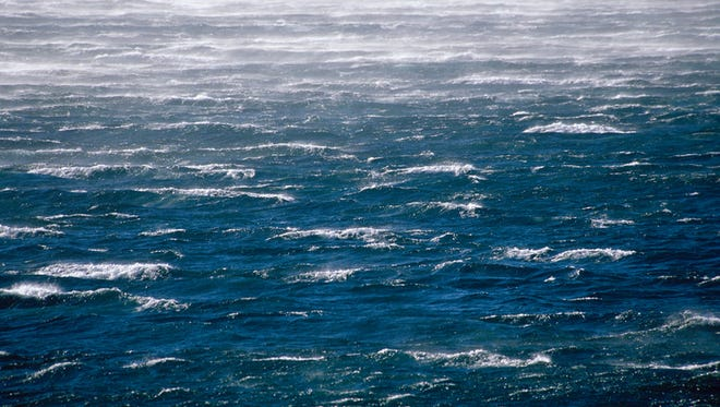 Heavy waves file photo.