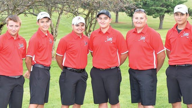 Returning lettermen for the 2020 Minerva boys golf team are (left to right) Lucas Kimble, Case Waller, Andrew Gillis, Aaron Honeycutt, Preston Randal and Frankie Common.