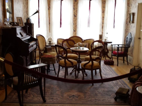 Formal parlor of the Harsha House.
