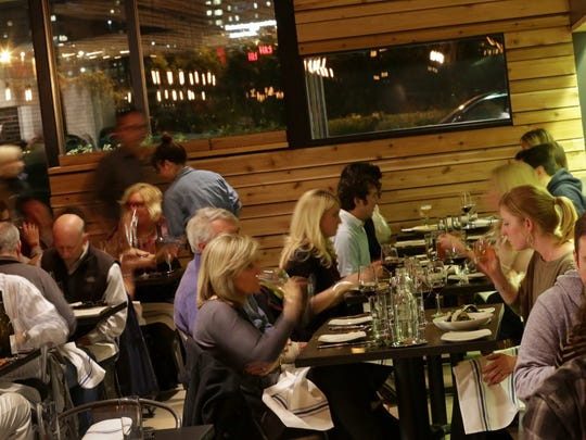 People dine at Selden Standard in Detroit on Monday.
