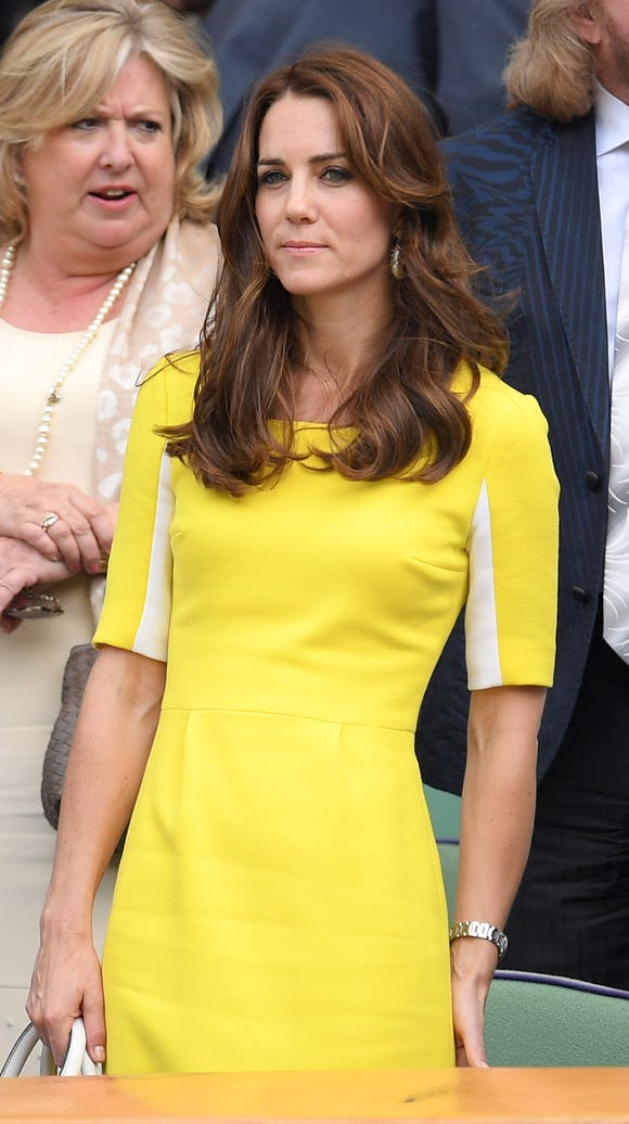 Kate looks great in yellow. Here, the Duchess wears