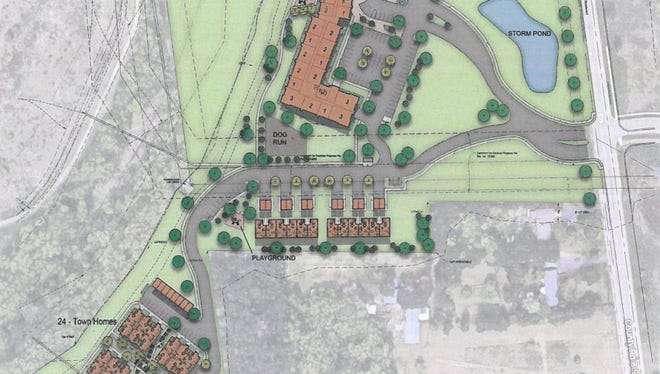 Drawings show amended plans for the Liberty Glen development in southeast St. Cloud.