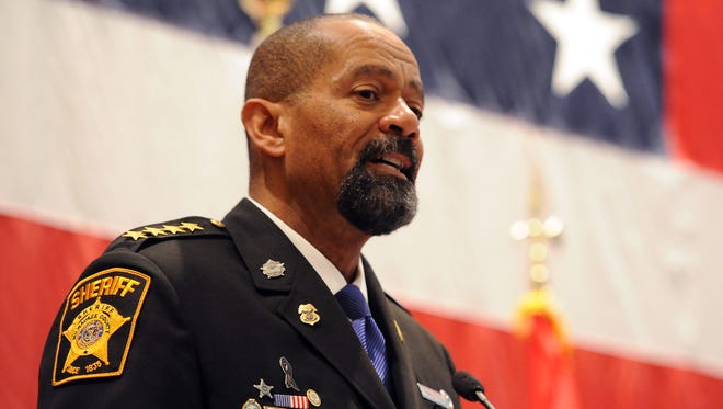 Milwaukee County Sheriff David A. Clarke Jr., who has opted to have his own detectives investigate three of the four deaths at his jail in 2016.