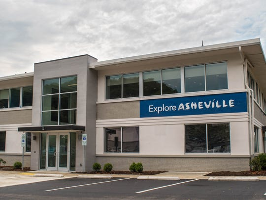 The Explore Asheville building at 27 College Place where Buncombe County Tourism Development Authority meetings are held.