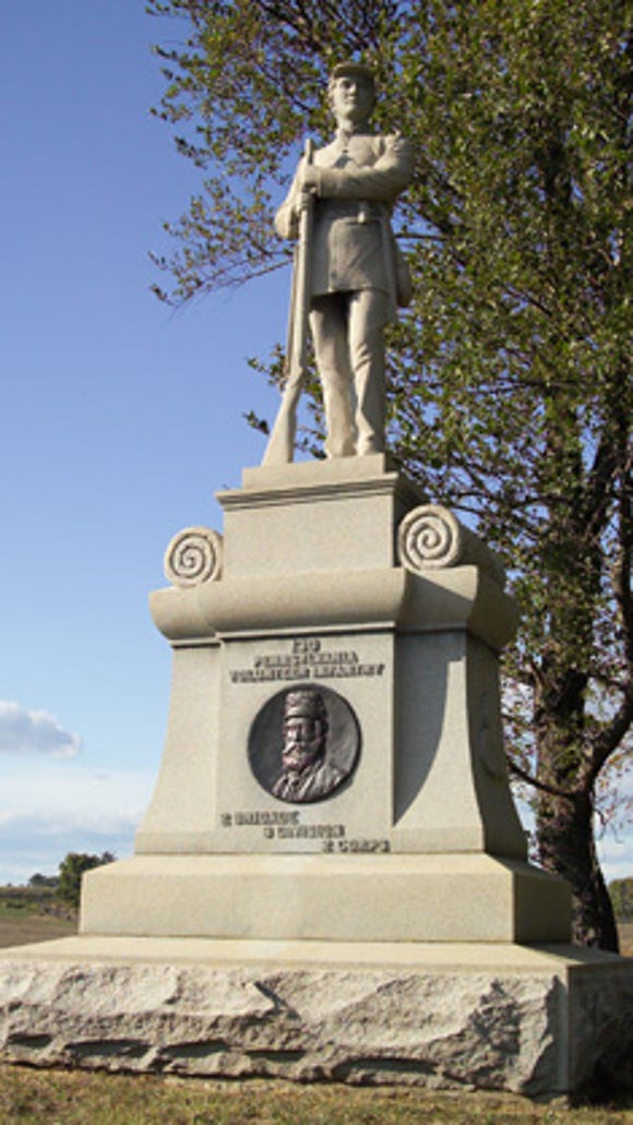 The monument to the 130th Pennsylvania Infantry at Antietam.