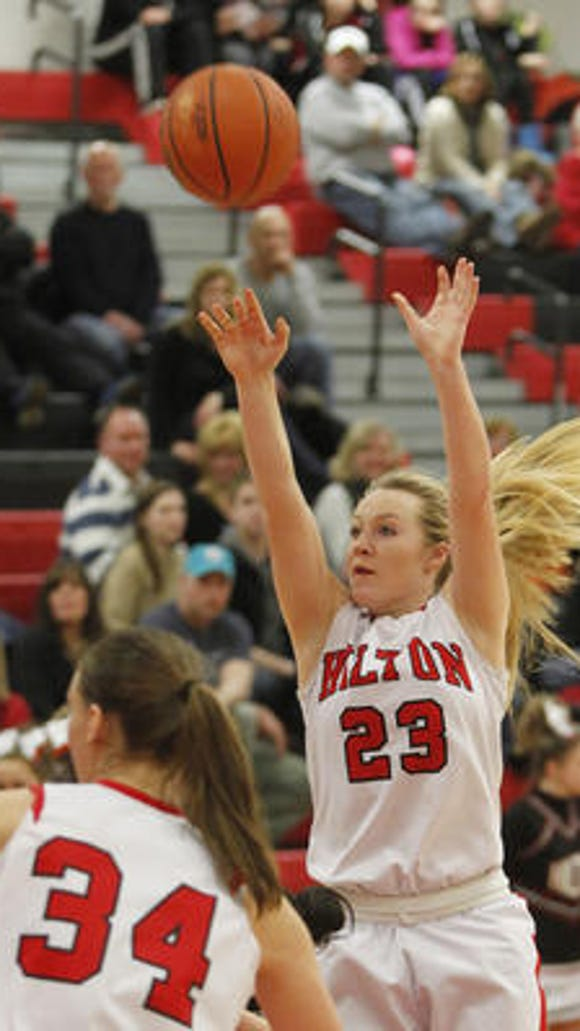 Cameron Graupman, a senior guard for the Cadets, became only the second girl in school history on Tuesday to reach 1,000 career points.