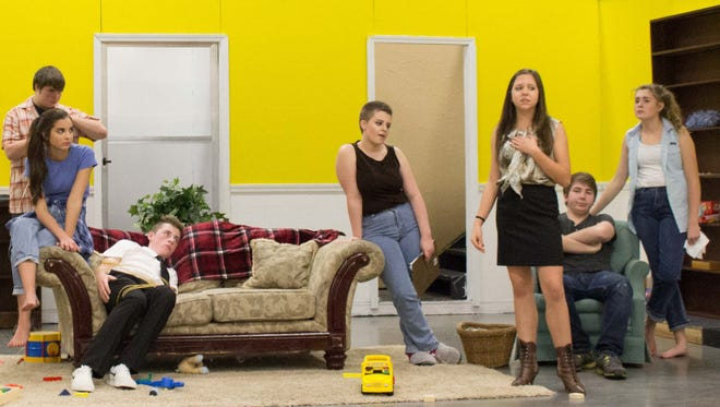 "Regis theater students rehearse for their upcoming production of ""Southern Hospitality"""
