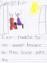 Gianelle Ruiz is thankful for her brother who plays