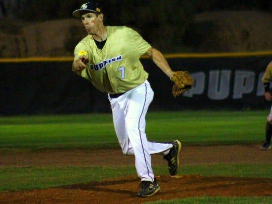 Evan Katz got an opportunity to pitch Friday night