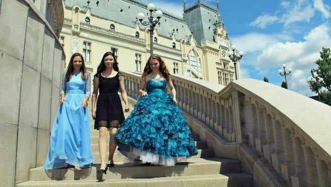 Agne G., left to right, Tatiana Marie and Anastasia Lee are Tre Principesse.