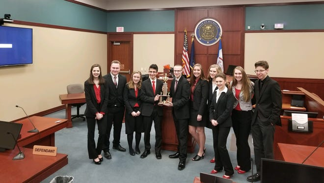 The Cardinal Mooney Mock Trial team was third at the state finals.