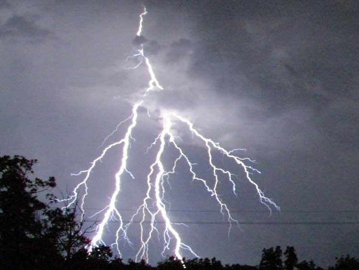 Always stay indoors when you see lightning. For the