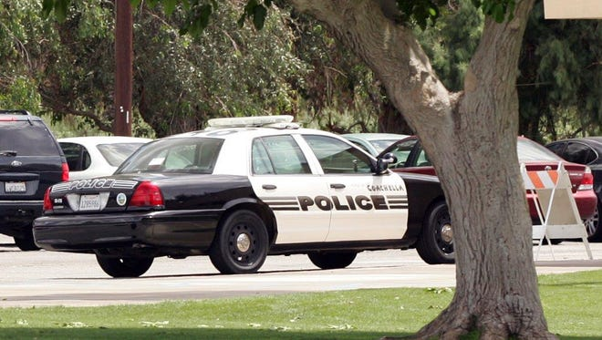 A Coachella police car appears in this 2010 file photo.   Desert Sun file photo A Coachella police car is seen in this April 22, 2010, file photo.