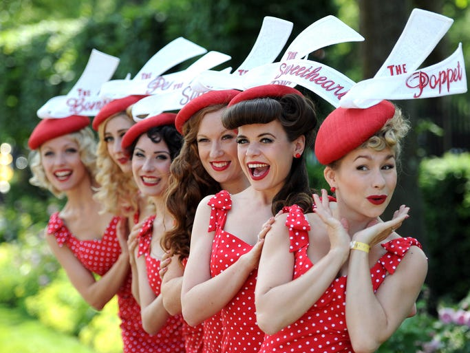 The Tootsie Rollers, retro girlband,  attend Day 5 of Royal Ascot at Ascot Racecourse on June 21, 2014 in Ascot, England.