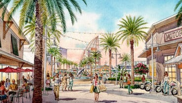 An artist drawing of what the Port Canaveral Cove area promenade might look like when redeveloped.