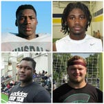 Josh King (top left), Auston Robertson (top right), Naquan Jones (bottom left) and Mike Panasuik (bottom right) give Michigan State its most heralded defensive line class in the modern recruiting era.