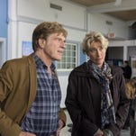 """This photo provided by Broad Green Pictures shows, from left, Robert Redford as Bill Bryson, Emma Thompson as Cynthia Bryson, and Nick Nolte as Stephen Katz in the film """"A Walk in the Woods."""""""