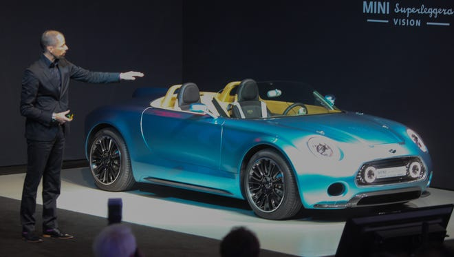 Mini showed off a glimpse of its design future with the Mini Superleggera Vision at the Los Angeles Auto Show. It's electric.