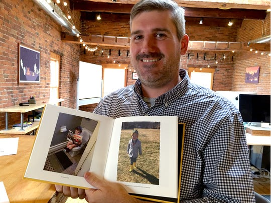 Parent Co. CEO Mike DeCecco with one of the new photo