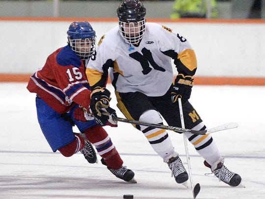 Jack Dugan played high school hockey through his junior year. He led McQuaid to the 2015 Division 1 state title, scoring 65 points in 23 games, most by a McQuaid player in three decades.