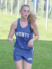 Montezuma's Lauren Slings competes at the Grinnell Invitational on Tuesday, Sept. 8 at Ahrens Park. Slings ran a 28:07 to place 83rd.