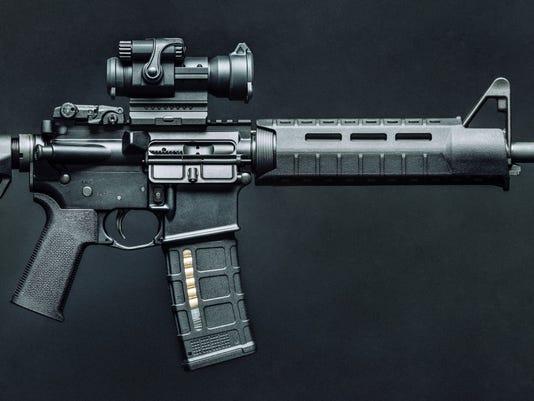 Black 5.56mm AR-15 Rifle