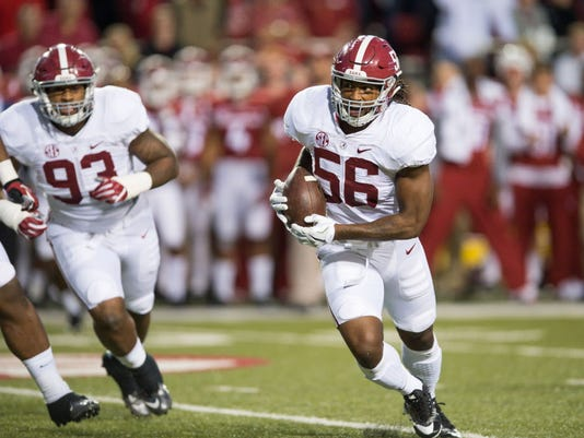 USP NCAA FOOTBALL: ALABAMA AT ARKANSAS S FBC USA AR